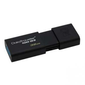 KINGSTON USB flash disk, 3.0, 32GB, DataTraveler 100 Gen3, černý, DT100G3/32GB
