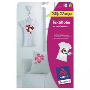 AVERY ZWECKFORM zažehlovací papír pro bílá trička, bílý, A4, 5 listů, pro inkoustové tis