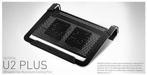 chladicí ALU podstavec Cooler Master NotePal U2 PLUS pro NTB 12-17 black, 2x8cm fan