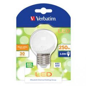 LED žárovka VERBATIM E27, 52135, 220-240V, 3,5W, 250lm, 3000k, teplá bílá, 30000h, klasick