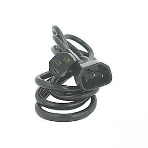 Síťový kabel 230V prodlužovací, C13-C14, 2m, VDE approved