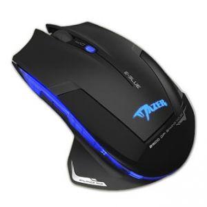 Myš herni optická E-BLUE Mazer-R 2 ks AA, 2.4 GHz 6tl., 1 kolečko bezdrátová černá 2500dpi