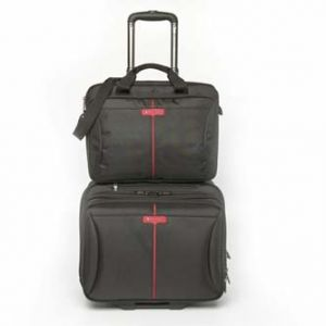 """Taška na notebook 15.6"""", Frankfurt, černá z polyesteru, na kolečkách, VERBATIM"""