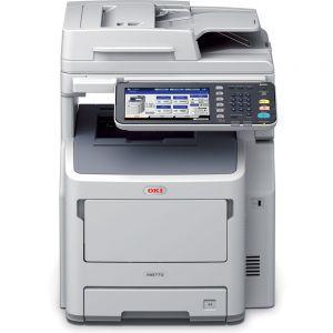 OKI MB770dnfax Multifunkční tiskárna A4 černobílá 4v1 LED rozlišení tisku 1200x1200, RADF