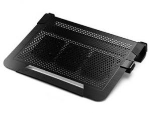 chladicí ALU podstavec Cooler Master NotePal U3 PLUS pro NTB 15-19 black, 3x8cm fan