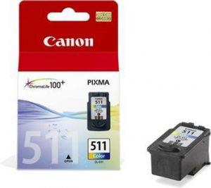 CANON originální ink CL-511, color, 245str., 9ml, 2972B010, 2972B004, blistr s ochranou