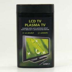 Čisticí trhací ubrousky na LCD TV a plasma TV domácí kino dóza 50ks BLACK EDITION LOGO