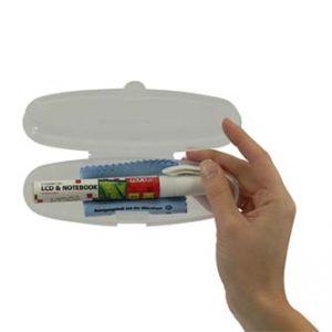 Cestovní čisticí sada na LCD notebooky mobilní telefony pero 12ml utěrka z mikrovlákna