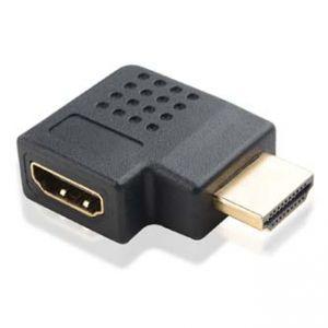 Redukce HDMI-HDMI M/F LOGO zlacené konektory lomená 90 vpravo