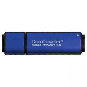 KINGSTON USB Flash Memory DataTraveler Vault 3.0 64GB Data Traveler Vault Privacy, modr