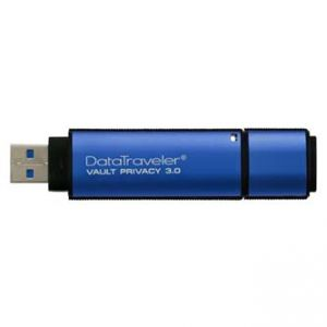 KINGSTON USB Flash Memory DataTraveler Vault 3.0 32GB Data Traveler Vault Privacy, modr