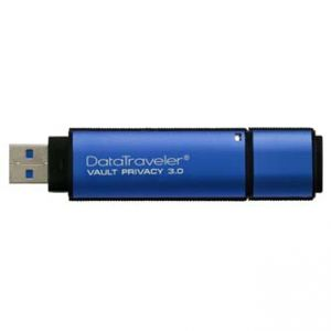 KINGSTON USB Flash Memory DataTraveler Vault 3.0 8GB Data Traveler Vault Privacy, modrý