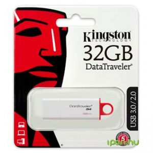 KINGSTON USB flash disk 3.0 32GB Data Traveler DTI-G4 červená DTIG4/32GB