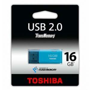 TOSHIBA USB flash disk 2.0 16GB Hayabusa modrý pro archivaci dat