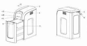 Skartovací stroj BONSAII 3D14 řez 4x30mm skartovačka až 8 listů / karty sponky