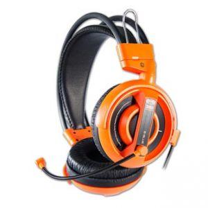 E-BLUE Cobra Herní sluchátka s mikrofonem oranžová, 3.5mm konektor