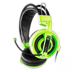 E-BLUE Cobra Herní sluchátka s mikrofonem zelená, 3.5mm konektor