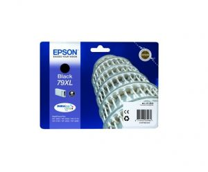 EPSON originální ink C13T79014010, 79XL, XL, black, 2600str., 42ml, 1ks, EPSON WorkForce P