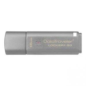 KINGSTON USB flash disk, 3.0, 16GB, Data Traveler Locker+ G3, stříbrný, DTLPG3/16GB
