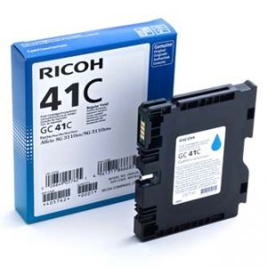 RICOH originální gelová náplň 405762 cyan, 2200str. GC41HC SG 3110DN, 3110DNw, 3100SNw,