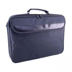 "Praktická taška na notebook, 15,6"", EASY, černá z polyesteru, s ramenním popruhem"
