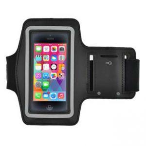 Fitness pouzdro na mobil černé neoprén, s páskem kolem paže 124 x 59 x 10 mm