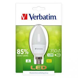 LED žárovka VERBATIM E14, 220-240V, 4,5W, 350lm, matná, 20000h
