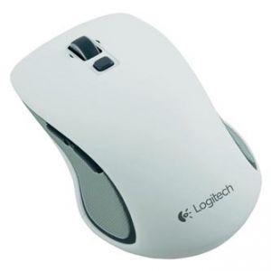 LOGITECH Myš M560, 1 ks AA, 2.4 [GHz], optická, 5tl., 1 kolečko, bezdrátová, bílá, 1000DPI