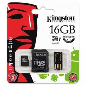 KINGSTON Micro SDHC 16GB Card Class 10 Gen2 - Mobility Kit