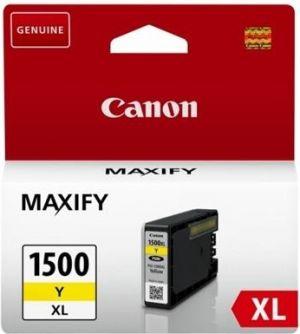 CANON originální ink PGI 1500XL, yellow, 12ml, 9195B001, high capacity, CANON MAXIFY MB205