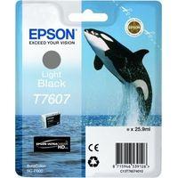 EPSON originální ink C13T76074010, T7607, light black, 25,9ml, 1ks, EPSON SureColor SC-P60