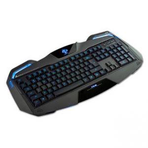 E-BLUE Auroza herní černá USB US + CZ/SK přelepky, podsvícené okraje