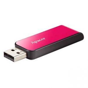 APACER USB Flash Drive, 2.0, 8GB, AH334 8GB Flash Drive, růžový