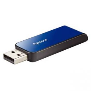 APACER USB Flash Drive, 2.0, 16GB, AH334 16GB Flash Drive, modrý
