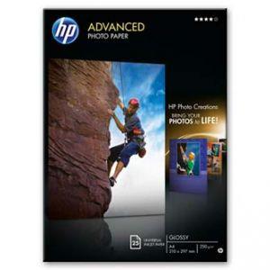 HP Advanced Glossy Photo Paper, foto papír, lesklý, zdokonalený, bílý, A4, 250 g/m2, 25 ks