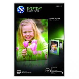 "HP Everyday Photo Paper, Glossy, foto papír, lesklý, bílý, 10x15cm, 4x6"", 200 g/m2, 100 ks"