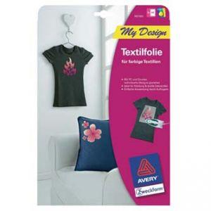 Nažehlovací fólie AVERY na textil, pro světlé textilie, pro inkoust, 10 archů, A4