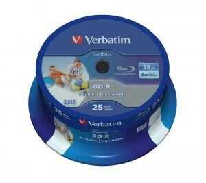 VERBATIM BD-R SL Hard Coat protective layer 6x 25GB spindle 43811 25-pack pro archiv