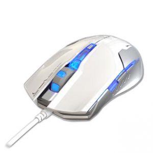 E-BLUE herní Myš Auroza G optická 6tl. 1 kolečko drátová USB bílá 3000dpi