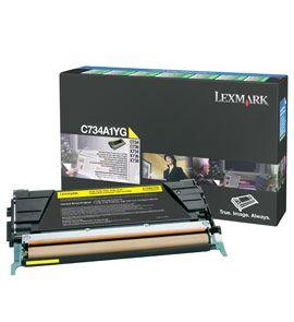 LEXMARK žlutý toner pro C734 C736 X734 X736 X738 Yellow Return Programme Toner Cartridge
