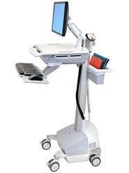 ERGOTRON StyleViewR EMR Cart with LCD Arm, SLA Powered, pojízdný stojan, NTB/LCD, Klávesni