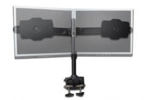 """DIGITUS stolní stojan pro dva monitory, černý, svorková základna, 24"""" - 32"""" TFT, maximáln"""