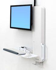 ERGOTRON StyleView Sit-Stand VL High Traffic Areas, white,systém držáků na zeď, monitor (a