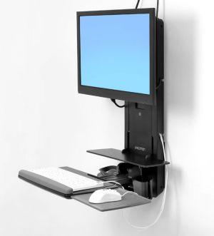 ERGOTRON PATIENT ROOM, VL18 STS WM,BLACK,systém držáků na zeď, monitor (all in one), kláve