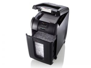 Skartovačka REXEL Auto+ 300X až 8 listů A4 80g/koš 40 l / i CD/NBU2/Příčný řez 4x40mm