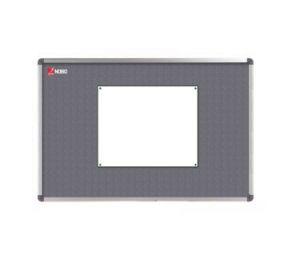 Textilní nástěnka NOBO ELIPSE, šedá, 90x60 cm