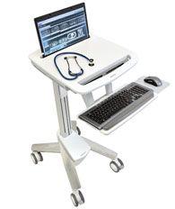 ERGOTRON StyleViewR EMR Laptop Cart, SV40, Pojízdný multifunkční stojan na NTB, LCD, kláve