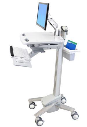 ERGOTRON StyleViewR EMR Cart with LCD Arm, Pojízdný multifunkční stojan na NTB, LCD, kláve