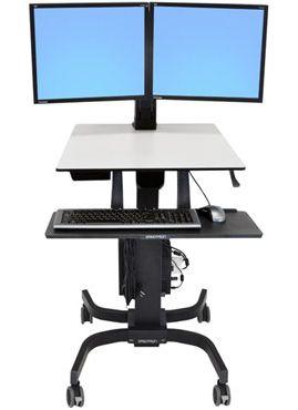 ERGOTRON WorkFit-C, Dual Sit-Stand Workstation,pojízdná nastavitelná prac. stanice, sezení
