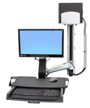 ERGOTRON StyleViewR Sit-Stand Combo System s prac. plochou, držák LCD, klávesnice+ myš